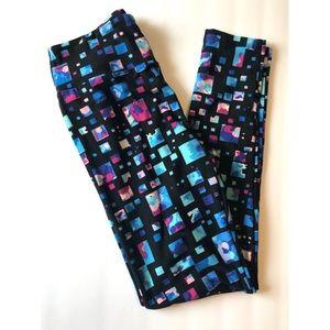 Blue/Black/Pink Block OS Lularoe Leggings